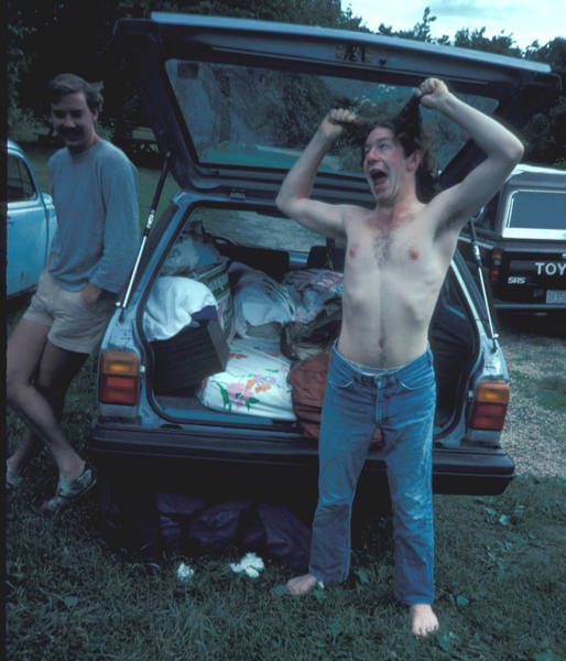 Would you let this clubber drive you to the crag? The bar maybe.<br> Rob Lemon havin' a bad hair day at DL wth Steve S.