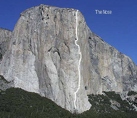 El Capitan-The Nose.<br> Photo by Blitzo.