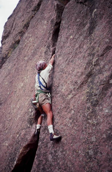 worksup/eldo climber Olaf Mitchell,Photo Bruce Sposi