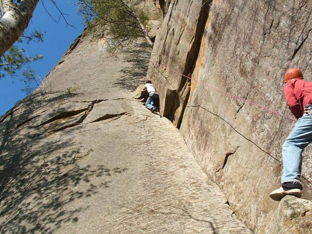 Roadside Attraction 5.7 at Roadside Crag