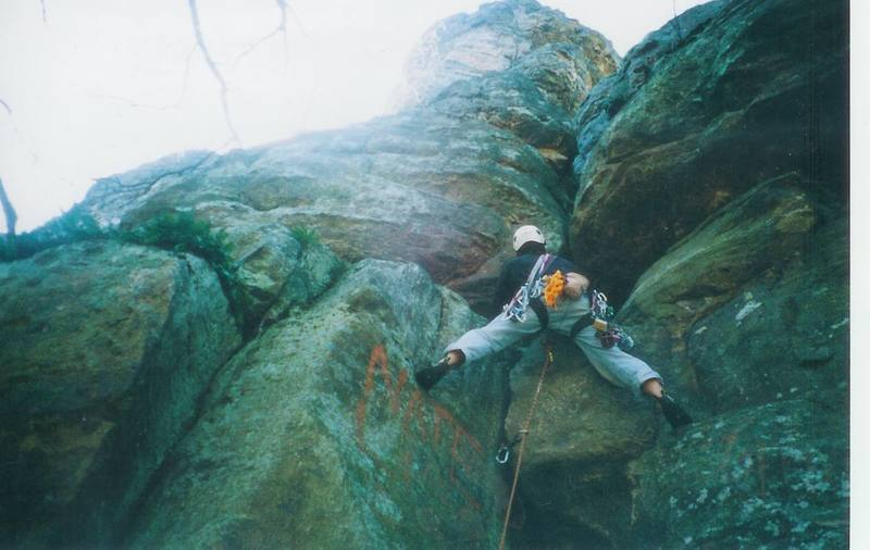 Climbing up Backside