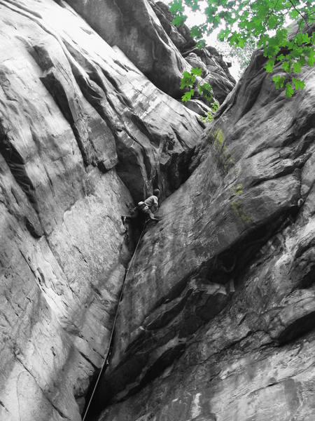 Nearing the crux. Summer, 2003.