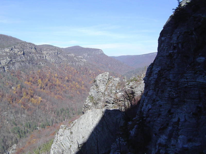 A view north into Linville Gorge from the route The Daddy.