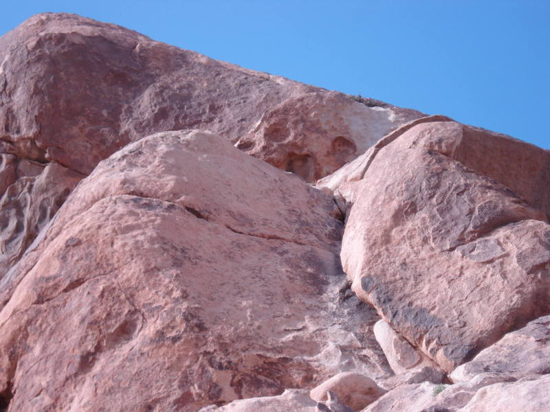 Optional belay at the base of the crack seen in the pic.
