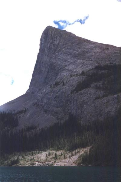 From the parking area/approach.  Thanks Ron Keller for your help.  This peak just begs to be climbed, eh?