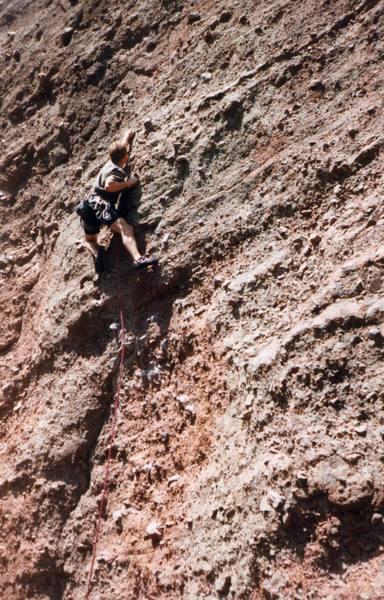 Jim Bodenhamer escaping the spring deluge of Yosemite.