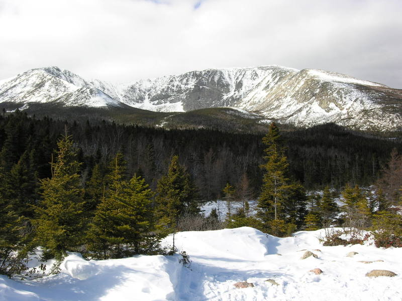 A view of the North Basin from the Chimney Pond Trial