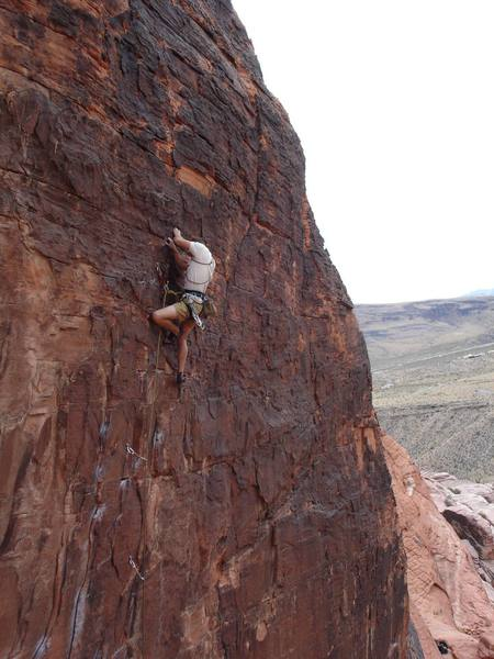 Josh finishing up strong on 'Totally Clips'.11a Panty Wall, Red Rocks NV