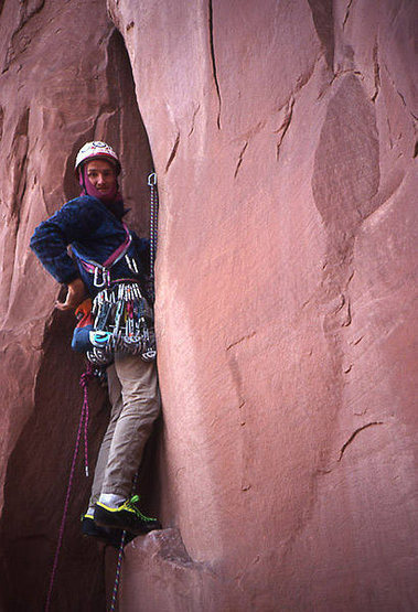 George Armstrong on West Face.<br> Photo by Todd Gordon.