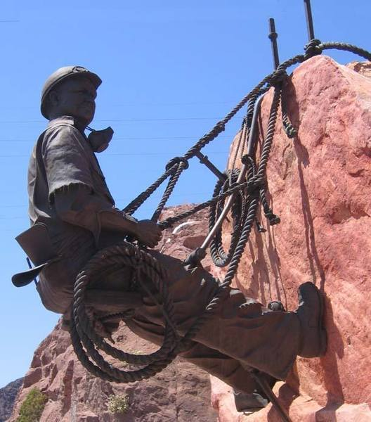 """The original Red Rock """"high-scaler"""", ca. 1933.  This guy has been at this hanging belay for over 20 years!"""