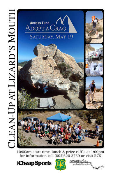 Access Fund Adopt-a-Crag 2007<br> Crag Clean-Up at Lizards Mouth