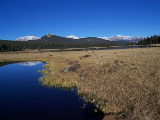 Camp.  Very nice spot.  Huge herd of Elk.  Unfortunately no fishing.  Lakes are very shallow and freeze to the bottom.