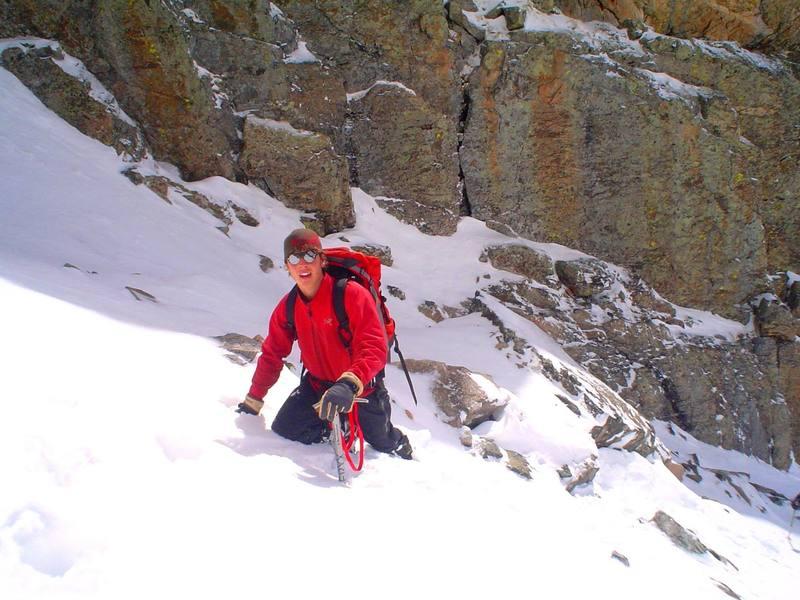 Me at the beginning part of the colouir on Otis Peak in RMNP.