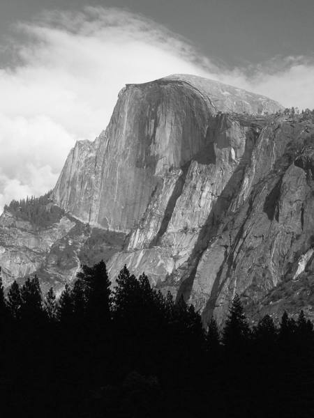 Half Dome ,Trying it in black and white