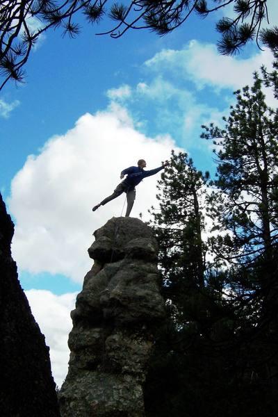 Climbing at The Needles, South Dakota