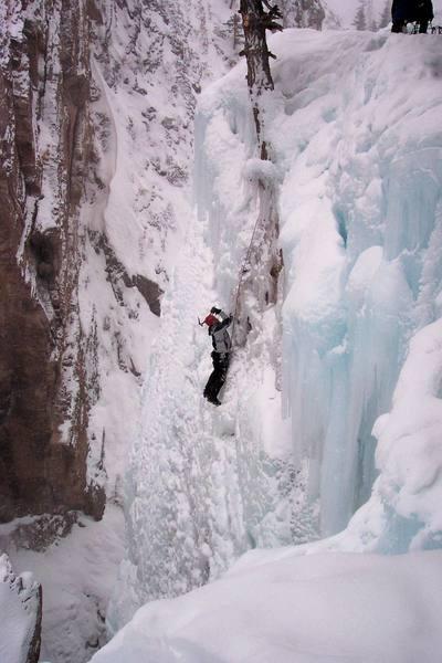 CD climbing at ouray Colo.