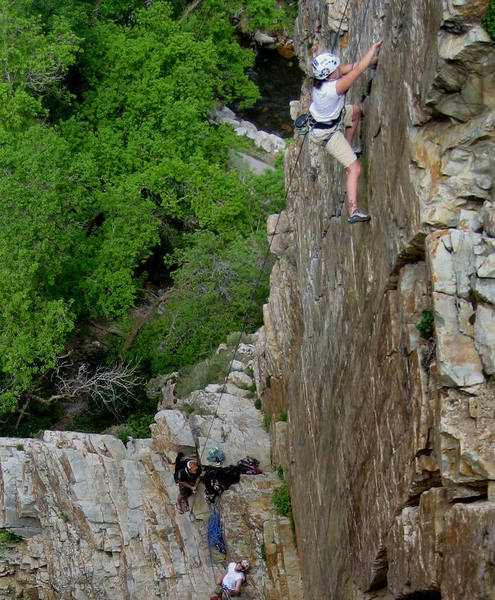 Right about the crux moves with thin feet