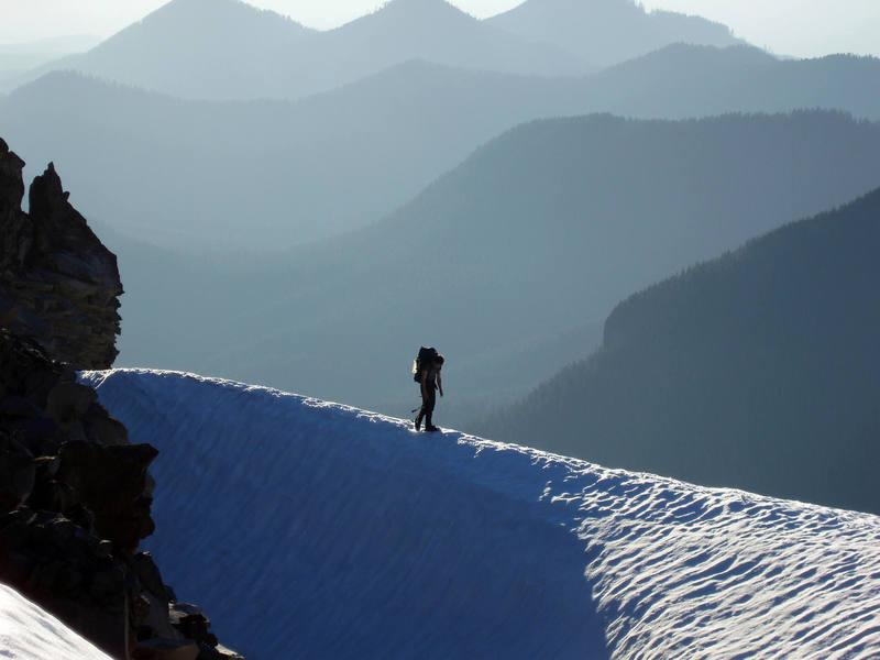 Joel Therneau on one of Mt. Rainier approaches -- Ptarmigan Ridge, Summer '06.