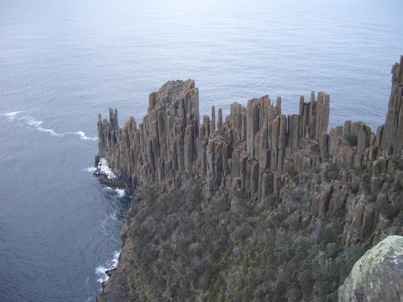 The awesome spires of Cape Raoul.
