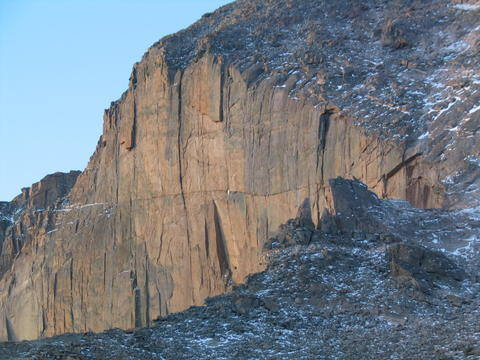 Upper Diamond from the Boulder Field, Longs Pk.