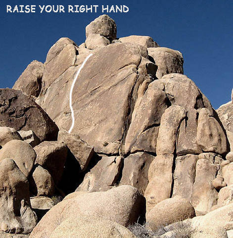 """""""Raise Your Right Hand"""".<br> Photo by Blitzo."""