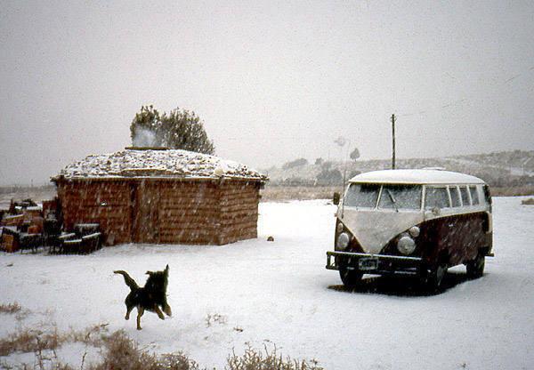 Todd Gordon residence, Lukaichukai, AZ.<br> Photo by Todd Gordon.