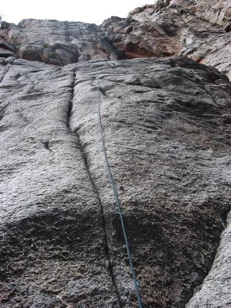 You can see the home made hanger towards the bottom of the picture next to the rope.