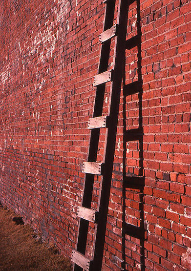 Ladder and wall-Bodie.<br> Photo by Blitzo.