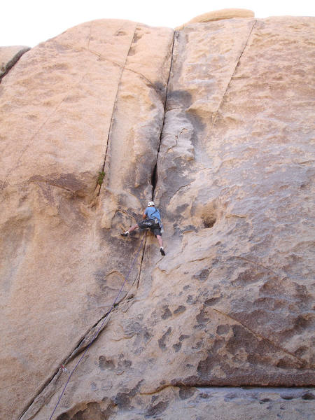 Brett having fun leading Colorado Crack. He made it look easy but I thought it was brutal.