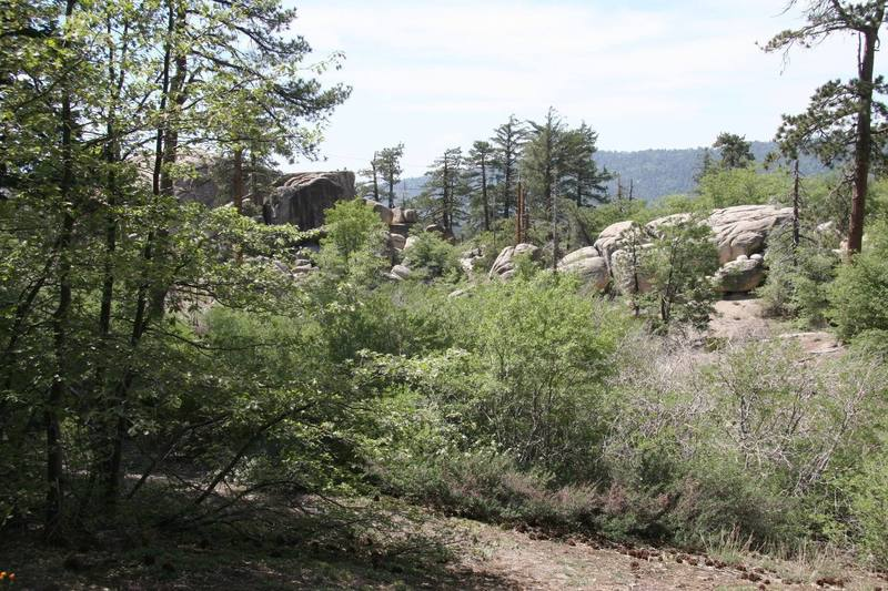 View of Preschool Rock from close to the Campground