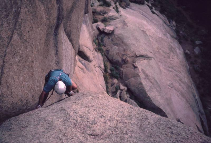 An Unknown climber on an unknown Splatte Route. Help me out here?