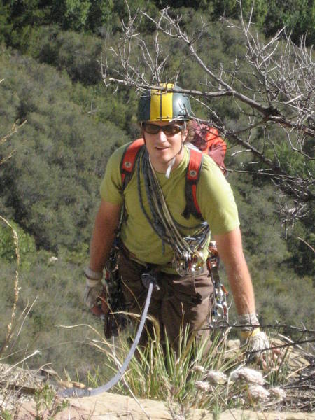 John Learned sporting his custom hand-painted racing stripes at top of the second pitch.