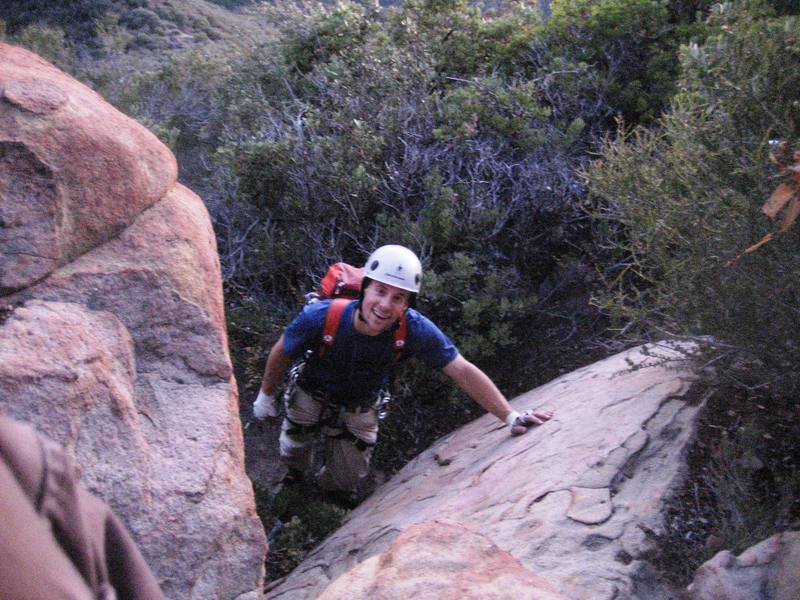 Me reveling in the last bit of 3rd class terrain on the way back from a great first outing to Cathedral Peak.