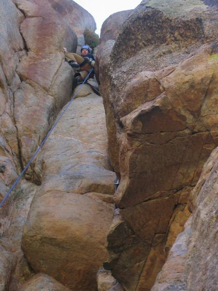 High up on the 2nd Pitch before the Luxury ledge.