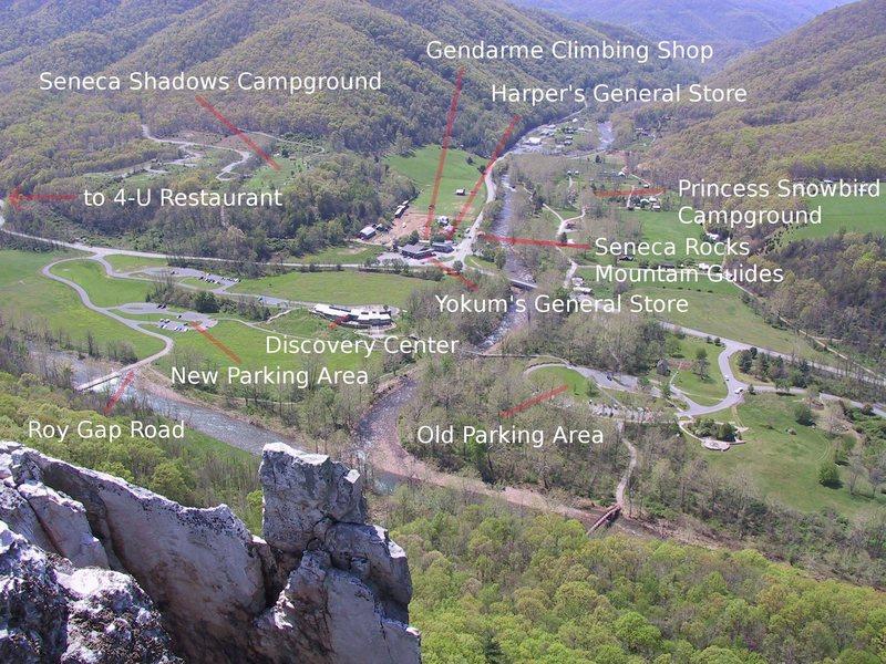 The town of Seneca Rocks