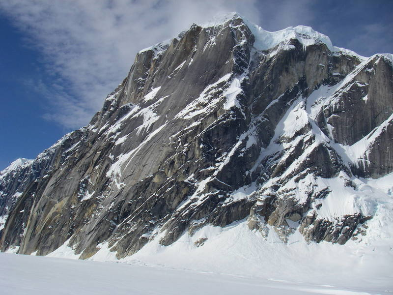 The east face of Mnt. Dickey looking big.
