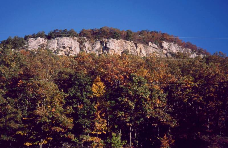 Fall in the Gunks- once past the power lines, it is really pretty. Photo by Tony Bubb, 10/03.