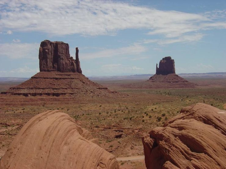 Classic Ansel Adams view of the mittens at Monument Valley.