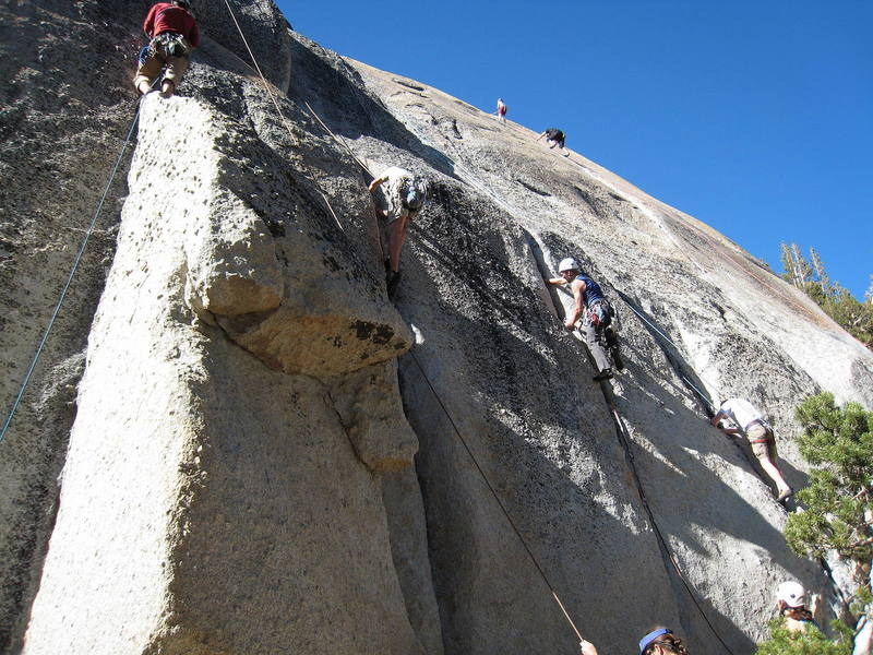 """The popular """"Guides Cracks"""" on a busy weekend."""