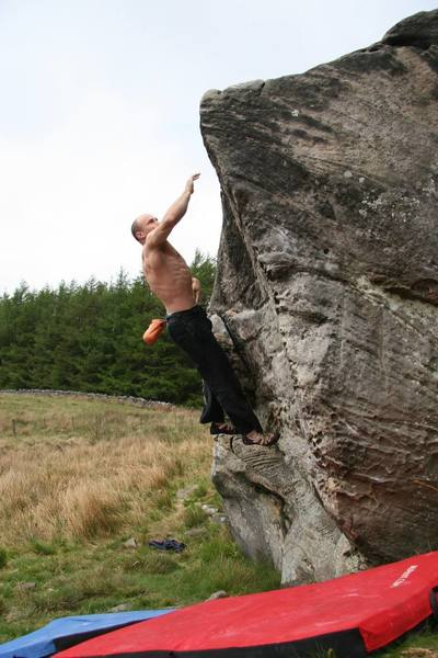 Mike doing a classic Dyno at Back Bowden, Northumberland.