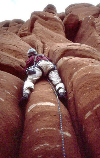 Dead Horse/Cow Crags. Climber; Brian Povolny.  Photo: Todd Gordon.