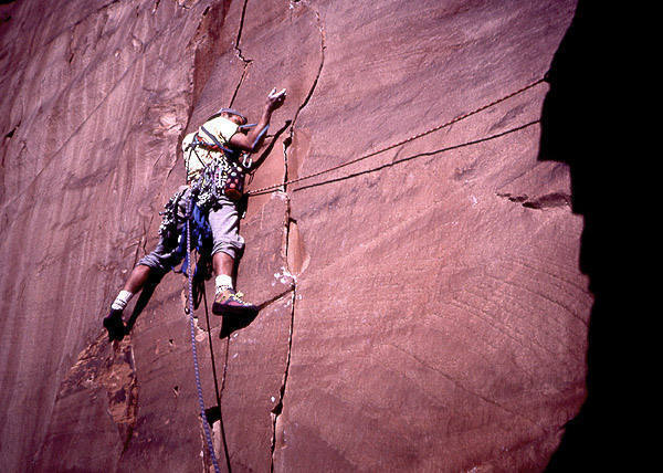 Dave Evans on the Primrose Dihedrals.  Photo; Todd Gordon.