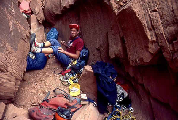 Proper preparation for the ascent.  Photo; Todd Gordon