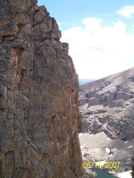 Climbers on final pitches of the Kor Route