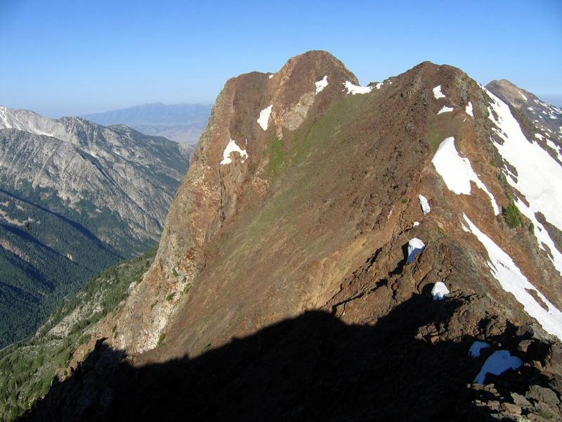 Looking west to Monte Cristo peak from the summit of Mt. Superior.