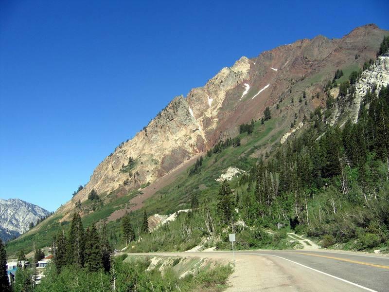 South Ridge, Mt. Superior from near Alta ski area.