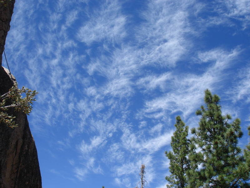 Clouds on a warm Summer's day at the Pinnacles.