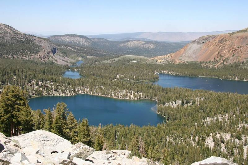 Mammoth Lakes basin from the base of Crystal Crag