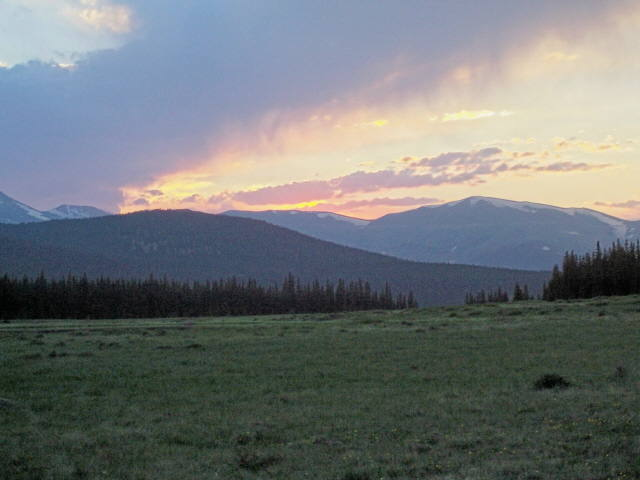 Sunset in the Mount Evans Wilderness