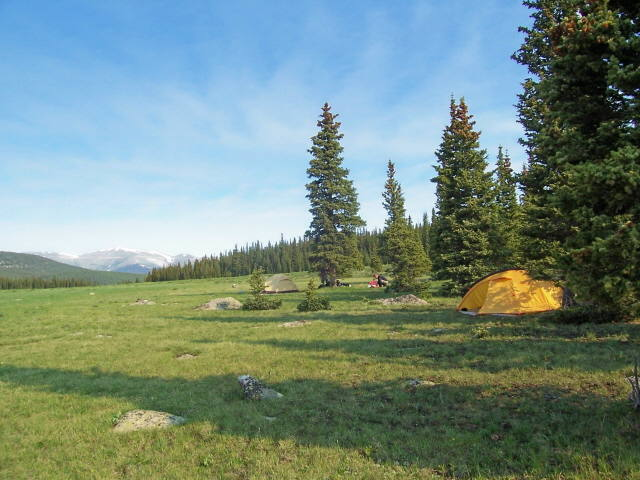 Camp in the Mount Evans Wilderness